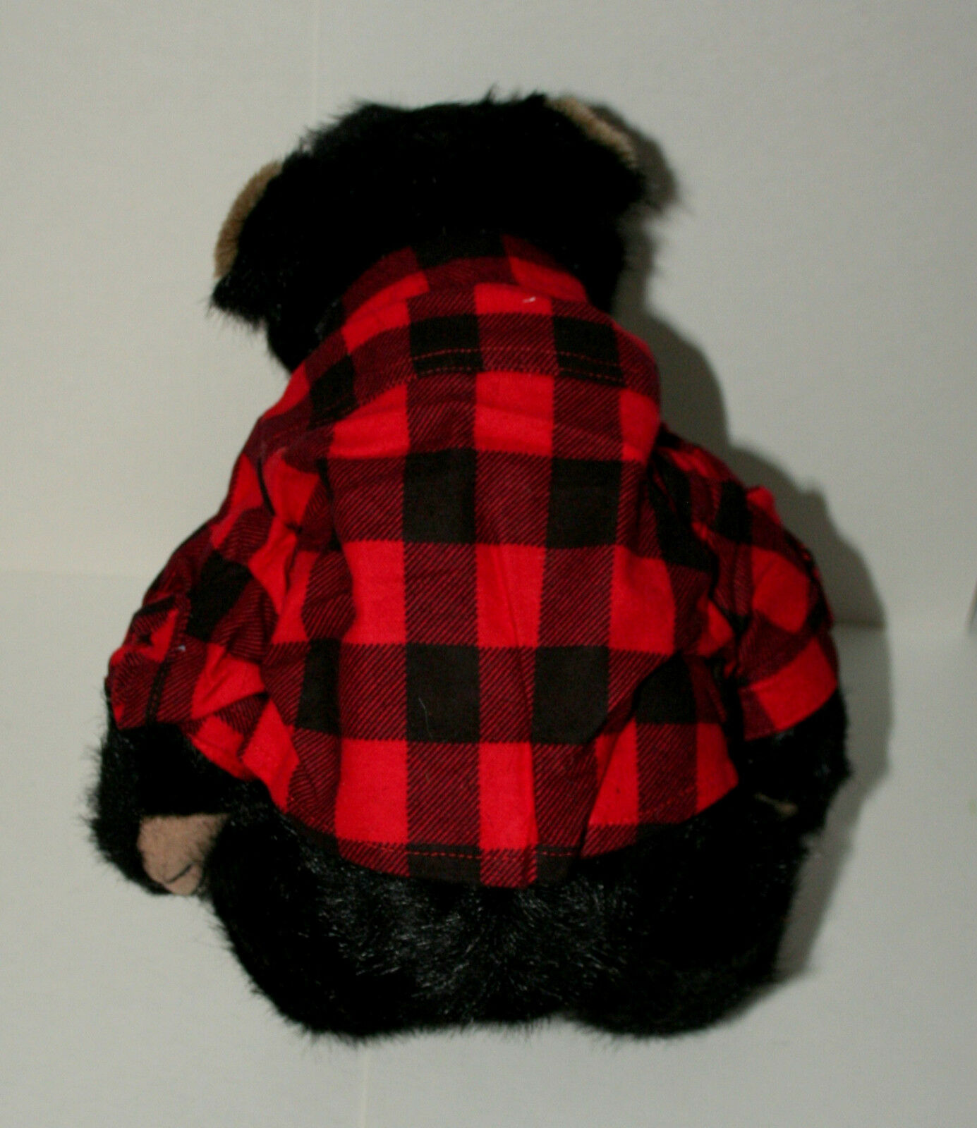Boyds Pa (Father) Bear Bear Bear Teddy Plush 14  New in bag Tags NOS 2004 Plaid Shirt 118760