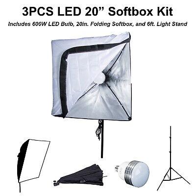 Sunset Foto 3PCS LED 600W 28 inch Octagon Softbox Photo Studio Light Kit Photography Video