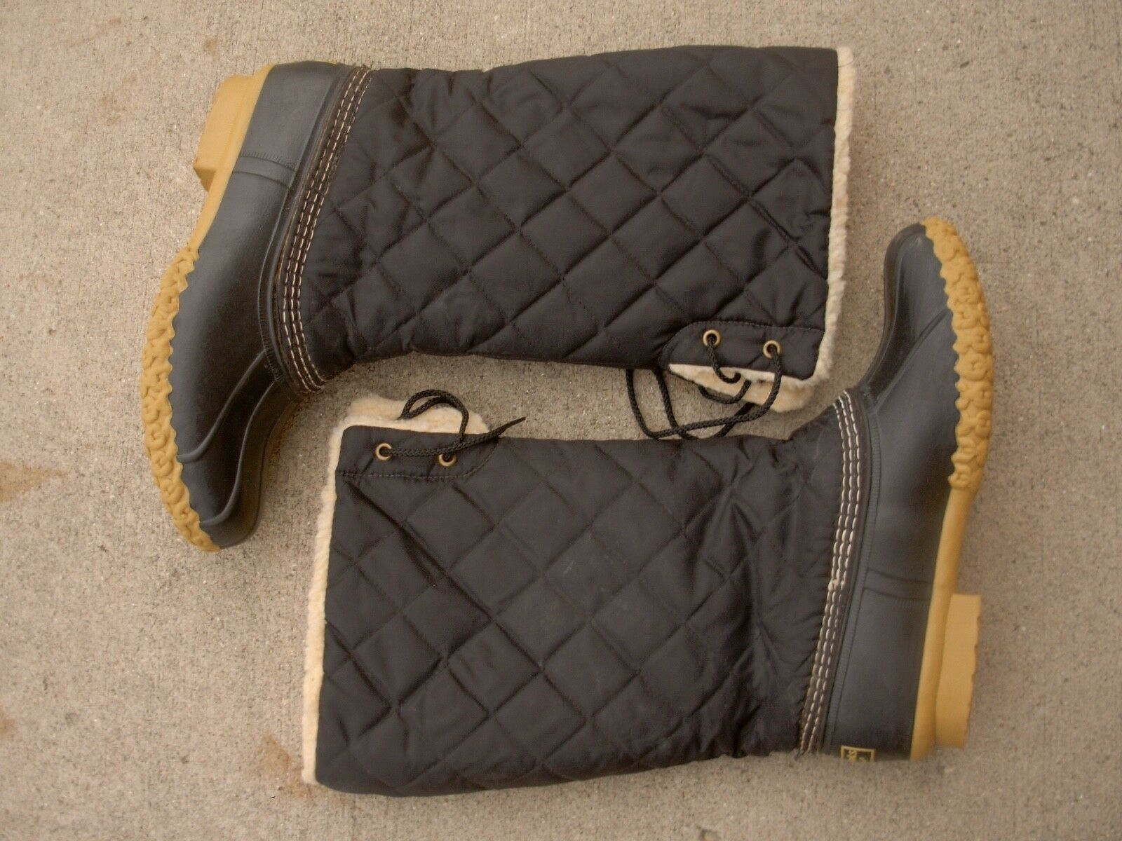 L. Quilted L. Bean Quilted L. Sherpa Lined Winter Duck Stivali Donna size: 9M made in MAINE afc949