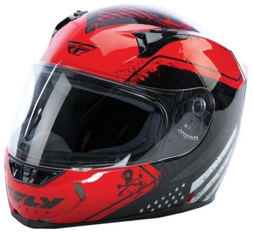 FLY STREET REVOLT FS MOTORCYCLE HELMET PATRIOT RED BLACK X-SMALL XS 73-8362XS