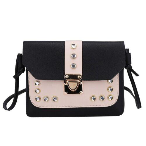 Fashion Women Hit Color Rhinestone Shoulder Bag Messenger Satchel Tote bag