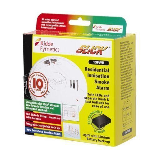 Kidde 1SFWR Slick Ionisation smoke alarm new housing wireless connectivity