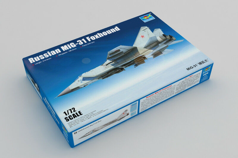 01679 Trumpeter 1 72 Model Russian Mikoyan MIG-31 Foxhound Plastic Aircraft Kit