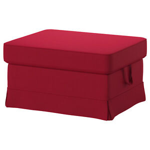 Superb Details About Ikea Ektorp Footstool Ottoman W Storage Replacement Cover Only Nordvalla Red Ibusinesslaw Wood Chair Design Ideas Ibusinesslaworg