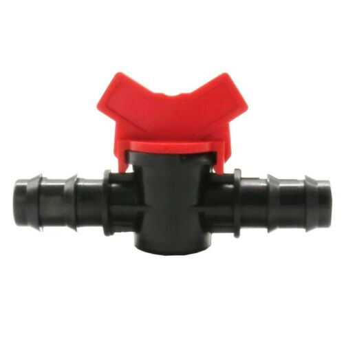 Details about  /Barbed Equal Coupling Switch Valve Double Way Irrigation Connector Garden Faucet