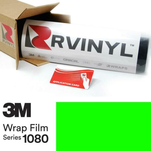 3M 1080 VCW17120 SATIN NEON FLUORESCENT GREEN Vinyl Car Wrap Film Sheet Roll DIY