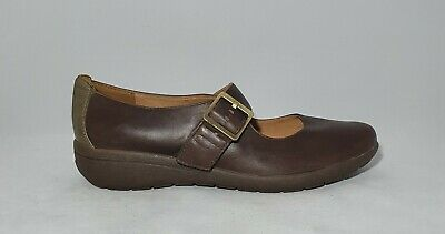 Clarks Womens Brown Leather Strappy
