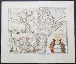 1639-Jansson-Original-Antique-Map-of-Africa-The-Myth-of-Emperor-Prestor-John