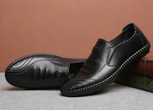 spring breathable mens slip on loafers casual leather