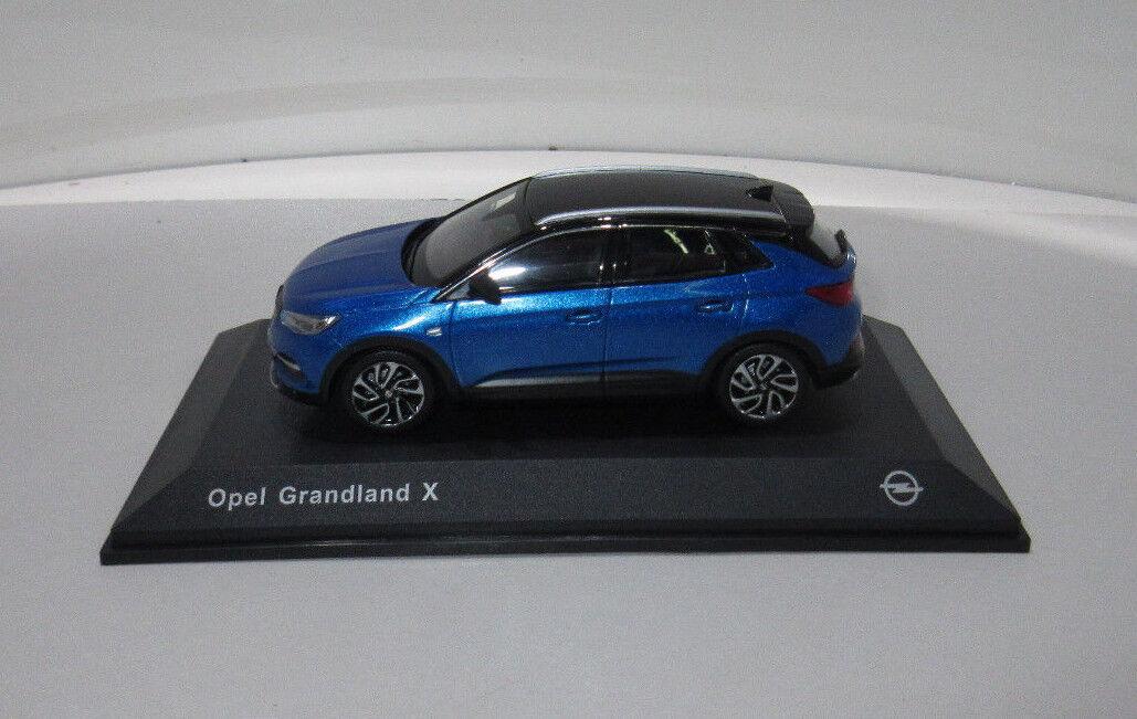 Voiture miniature OPEL grandland X 1 43 Topaze Bleu 11023