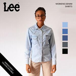 Vintage-Womens-Lee-Denim-Shirts-XS-S-M-L-XL-XXL