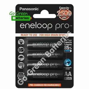 4-x-Panasonic-Eneloop-PRO-AA-2500-mAh-Rechargeable-Batteries-Ready-To-Use-HR06