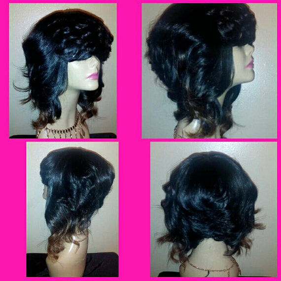 "Khloe"" Full Custom Bob Wig (Human Hair Blend)"