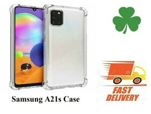 Samsung-Galaxy-A21s-clear-back-screen-protector-Shockproof-cover-Silicone-Case