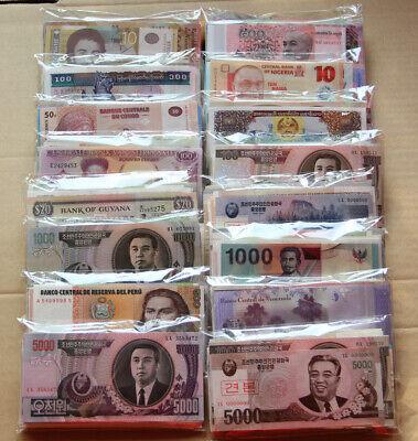 100 DIFFERENT  GENUINE WORLD BANKNOTES