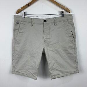 G-Star-Mens-Cargo-Shorts-Size-34-Beige