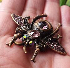 steampunk brosche brooch gothic bee Biene bug Käfer cyberpunk vintage strass xxl