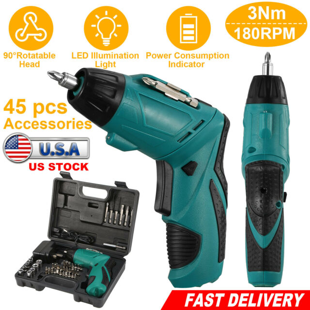 RECHARGEABLE SCREWDRIVER SET WITH BITS AND SCOKET TOOLS