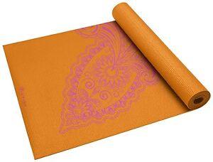 Details About Gaiam Yoga Mat New Paisley Flower Print Non Slip 68 X24 3mm Durable Home