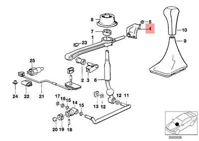 GENUINE BMW E23 E24 E28 E30 1985-1992 Shift Lever Insulating Rubber Boot Manual