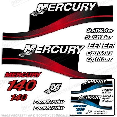 Mercury 140hp Fuoribordo Decalcouomoia Kit 140 Blu o Rosso 19992004 tutte le