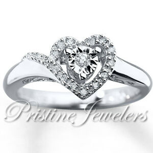 925-Sterling-Silver-Love-Heart-White-Micro-Pave-Ladies-Promise-Ring-Womens-Band