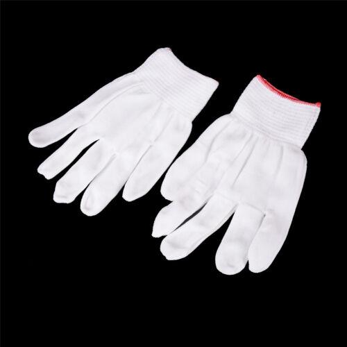 5 Pairs General Purpose White Cotton Lining Gloves Health Work  LSP L/_X