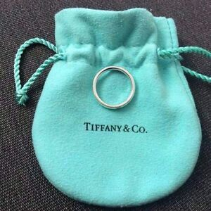 Genuine-Tiffany-amp-Co-Pink-Sapphire-sliver-ring