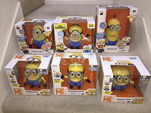 Lot-of-6-Talking-amp-Dancing-Despicable-Me-movie-MINIONS-Dave-Tim-Stuart-Jerry