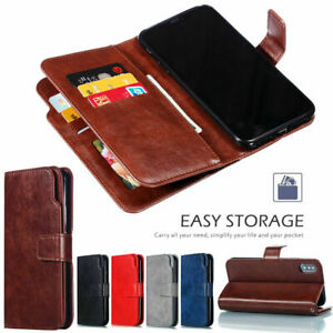 Samsung-Galaxy-Note-10-S8-S9-S7-S10-5G-Card-Slot-Leather-Flip-Wallet-Case-Cover