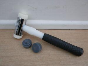Nylon Hammer heads grey x 2. soft type