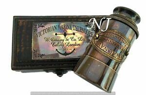 Brass-Telescope-with-Box-Antique-Finish-Nautical-Maritime-Spyglass-Telescope