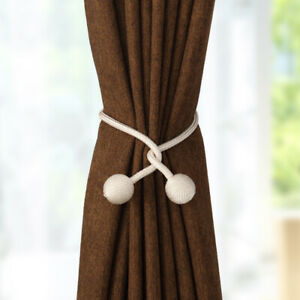 New-Ball-Curtain-Buckle-Holder-Tieback-Clips-Home-Window-Accessories-Straps-hot