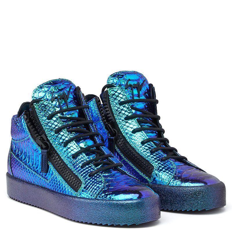 GIUSEPPE ZANOTTI Python Snake Iridescente Metallic Las Vegas Mid -Top  scarpe da ginnastica 418  consegna gratuita e veloce disponibile