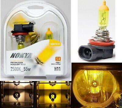 SIZE 9004 HB1 NOKYA S1 HYPER YELLOW 2500K HALOGEN REPLACEMENT LIGHT BULBS PAIR