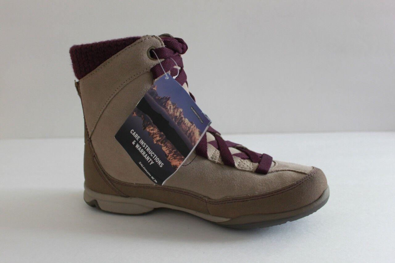 Salomon Lacy Women's Brown Leather Suede Winter Snow Boot shoes shoes shoes Size 5.5 M d28af2