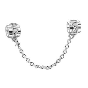 204ad4923 Image is loading 925-Sterling-Silver-Genuine-Safety-Chain-Style-Bead-