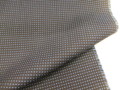 Navy /& Blue Dotted Design British Wool Blend Furnishing//Upholstery Fabric