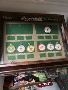 Vintage-Ingrosoll-Watch-Store-Display-Case-Cabinet-Watches-Not-Included