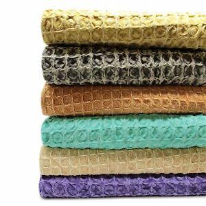 Oregon-Stonewash-Waffle-Throw-Modern-Distressed-Sofa-Bed-Blankets-100-Cotton