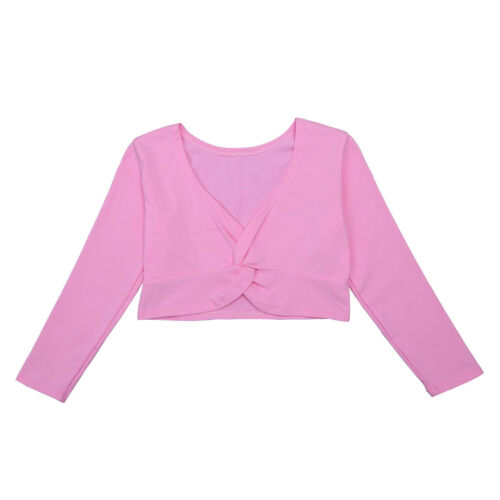 Girls Kid Childrens Ballet Cardigan Top Crossover Knot Wrap Knitting Shrug Shawl