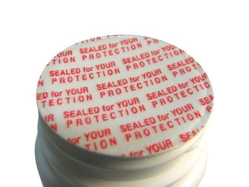 33mm Pressure Sensitive Foam Red Cap liner Sealed for your Protection Tamper USA