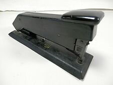 Vintage Bostich Stapler Heavy Duty Industrial Black Front Load Usa Made
