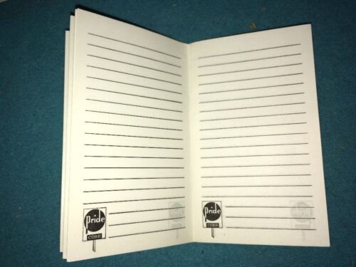 Unused PRIDE seed 1963-64  Calendar Seed corn data note book farmers memo Pad