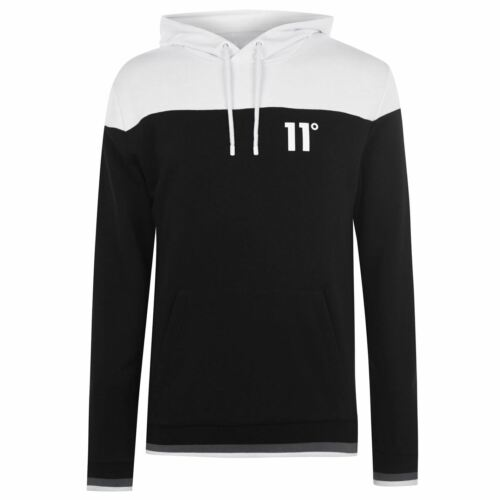 11 Degrees Mens Cut and Sew OTH Hoodie Hoody Hooded Top Long Sleeve Lightweight