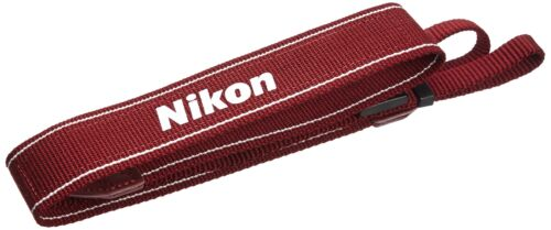 Correa de Cuello Cámara Nikon Japón AN-DC3 RD oficial para D5200 D5300 D3100 D3200 Rojo