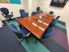New Listingrectangle Conference High Quality 15 Ft X 48 Ft With 10 Fabric Chairs