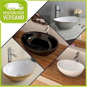 aufsatzbecken waschbecken waschschale becken sofia 4 farben oval ebay. Black Bedroom Furniture Sets. Home Design Ideas