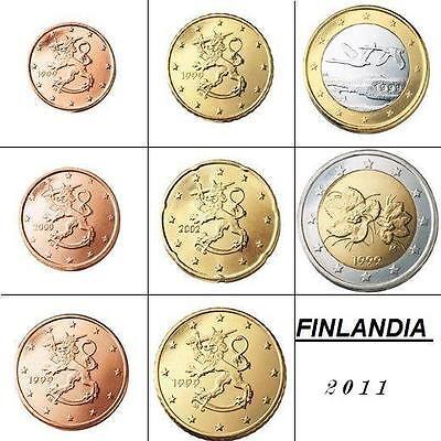 Serie completa Euros FINLANDIA 2011 los  8 VALORES S/C