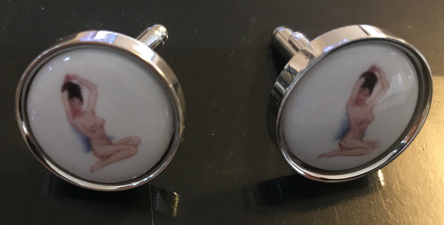 PS Paul Smith Naked Lady Cufflinks